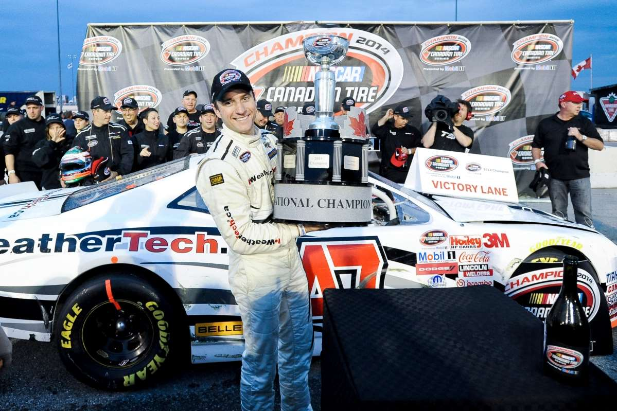 Louis-Philippe Dumoulin crowned 2014 champion of the Nascar Canadian Tire series