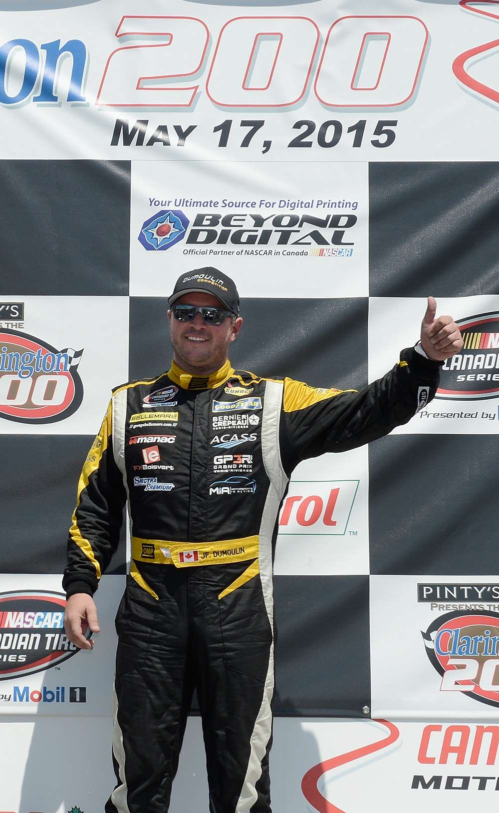 JF Dumoulin gets his first podium in the nascar canadian tire series