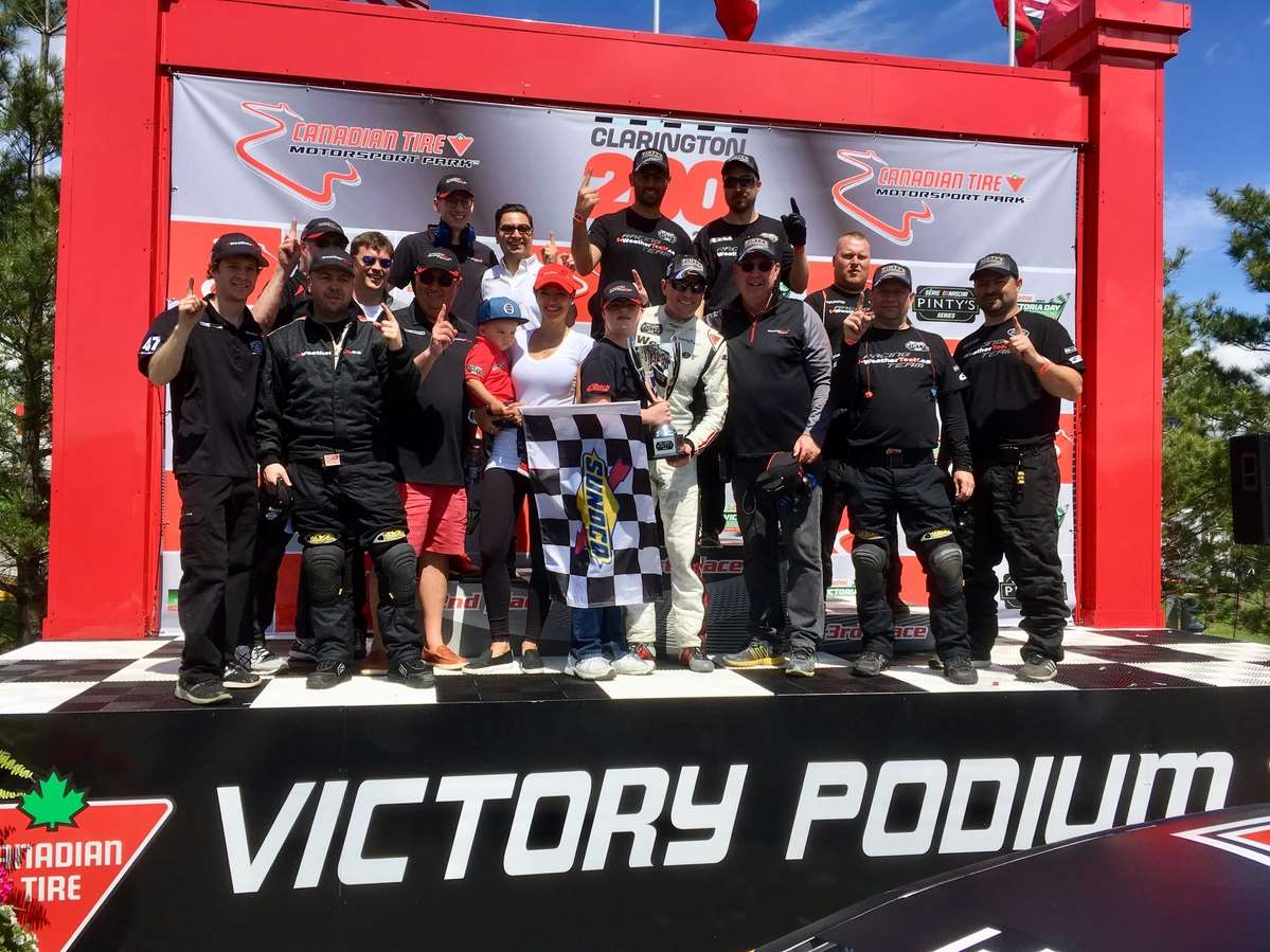 THE #47 WEATHERTECH CANADA | GROUPE BELLEMARE TEAM WINS AT THE CANADIAN TIRE MOTORSPORT PARK
