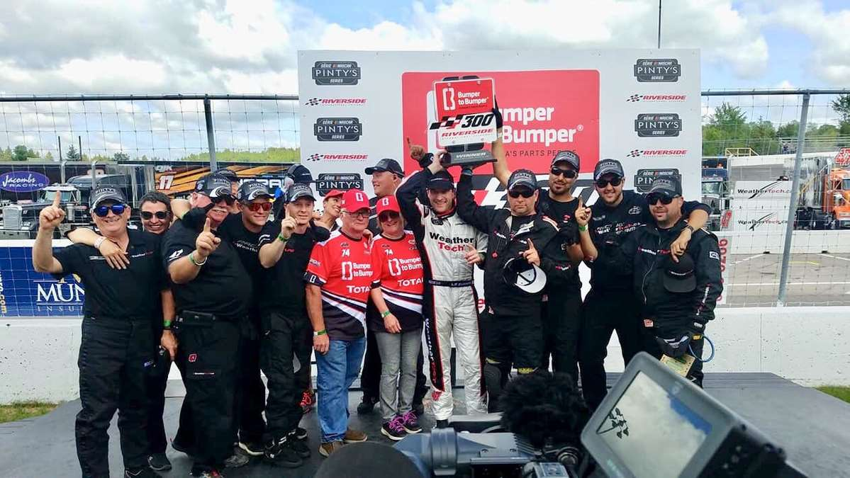 The #47 WeatherTech Canada | Groupe Bellemare team dominant. Louis-Philippe Dumoulin wins at Antigonish