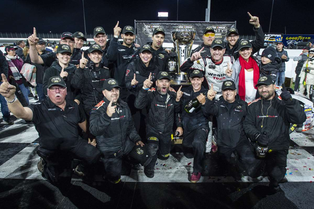 Louis-Philippe Dumoulin 2018 NASCAR Pinty's Series CHAMPION. First In-house Championship for the Dumoulin Comp�tition Team