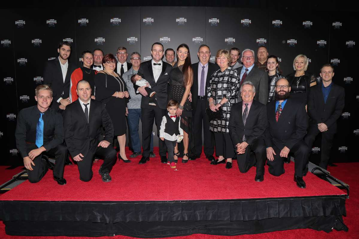 LP Dumoulin and the #47 WeatherTech Canada | Groupe Bellemare team honoured at NASCAR banquet of Champions