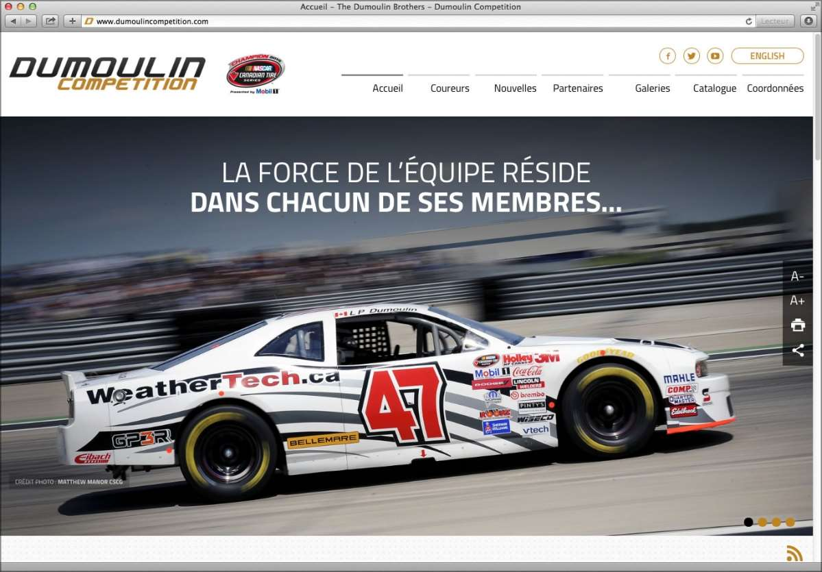 DUMOULIN COMP�TITION presents its new look